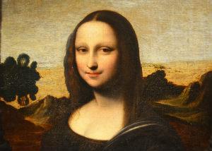 Mona Lisa - low quality, blurry image