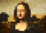 "Mona Lisa - very low quality, ""pixelated"" image"